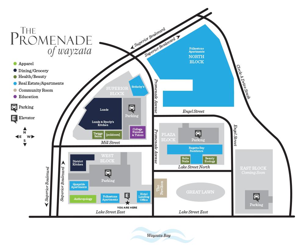 Site Map of The Promenade of Wayzata